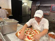 Pizza à Juliana's (dans le quartier de DUMBO à Brooklyn, New-York)