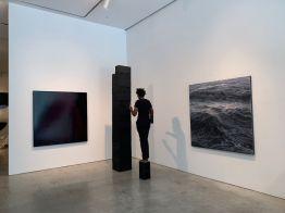 A la galerie d'art Marlborough dans le quartier de Chelsea à New-York.
