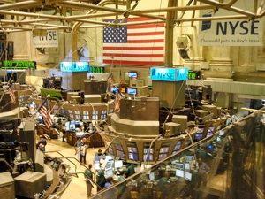L'intérieur de la bourse NYSE (New-York Stock Exchange)