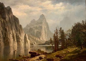 Yosemite peint par Albert Bierstadt (1866) au Metropolitan Museum of Art de New-York