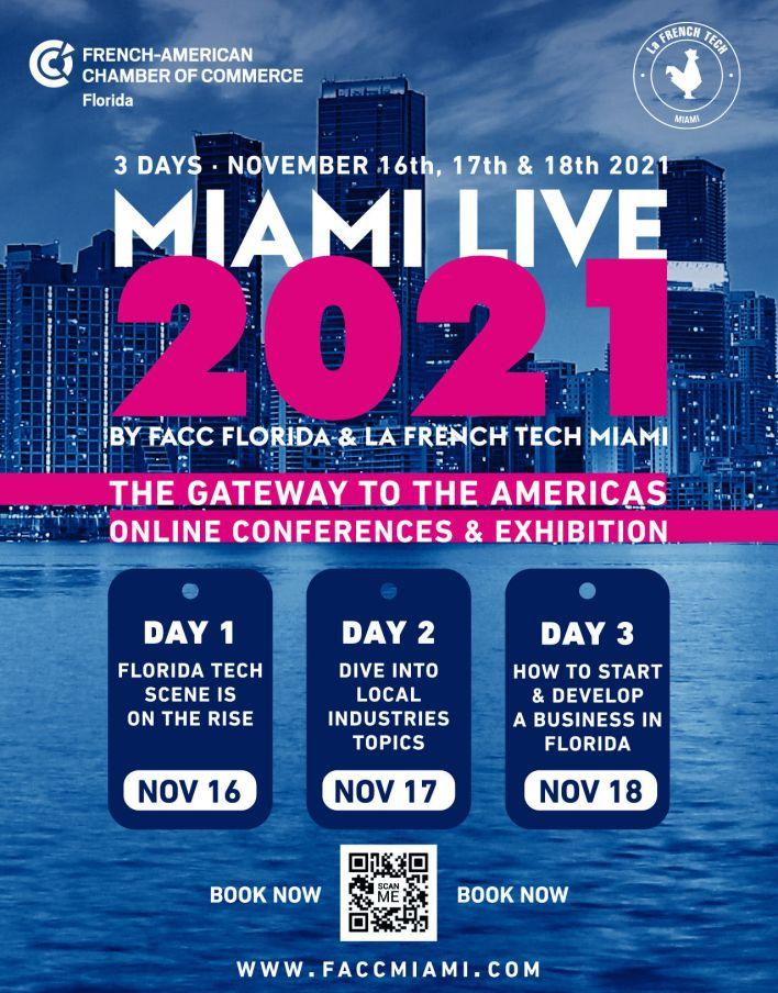 Miami Live 2021 : l'événement français pour les entreprises cet automne !
