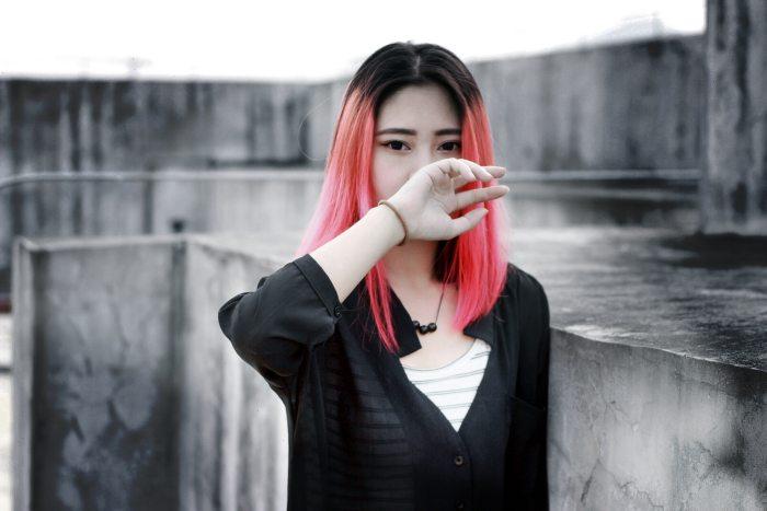 red hair asian girl