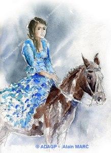 Andalouse à cheval