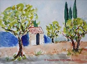 Huguette SABAS Petit cabanon (Visioateliers)