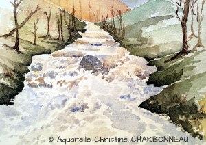 Christine CHARBONNEAU Le torrent en hiver (Visioateliers)