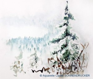 Carole SONNENDRUCKER Paysage d'hiver (Visioateliers)
