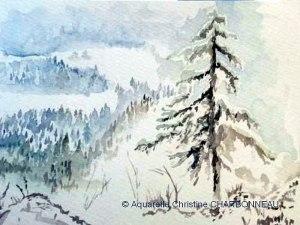Christine CHARBONNEAU Paysage d'hiver (Visioateliers)