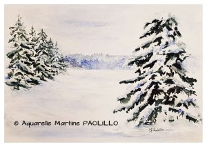 Martine PAOLILLO Clairière enneigée (visioateliers)