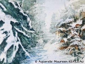 Maureen KERLEAU Chemin enneigé (Visioateliers)