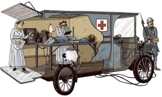 petites curies illustrations unité mobile radiologie