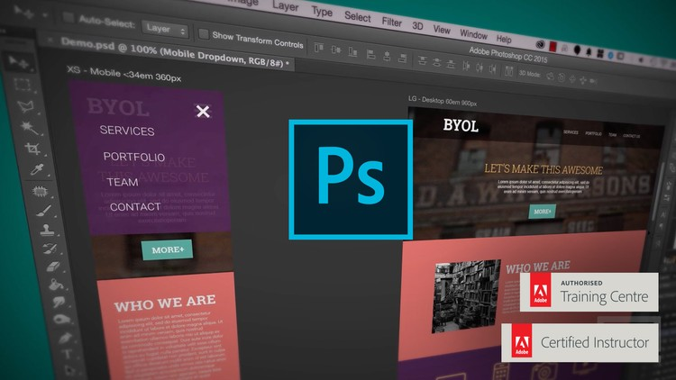 Adobe Photoshop CC Web Design Responsive Design UI