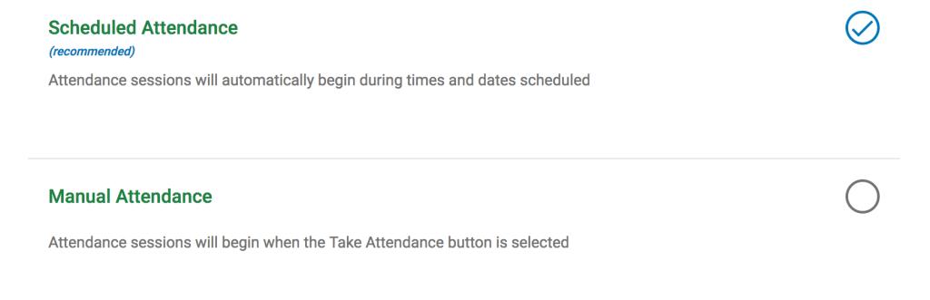schedule attendance