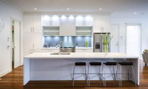 balanced all-white design | Course | Kitchen