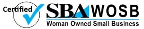 Small Business Association certified Woman Owned Small Business logo