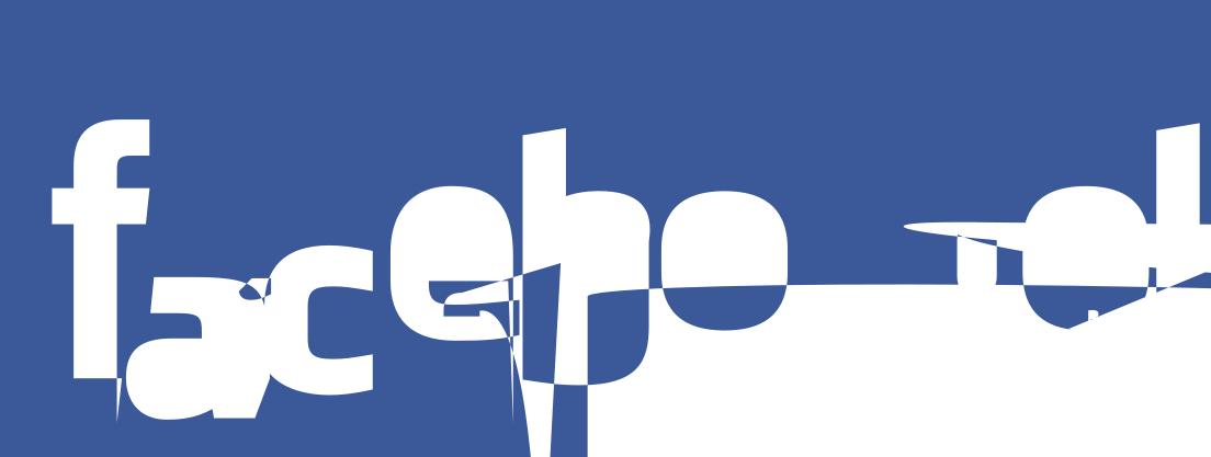 Glitched Facebook Logo