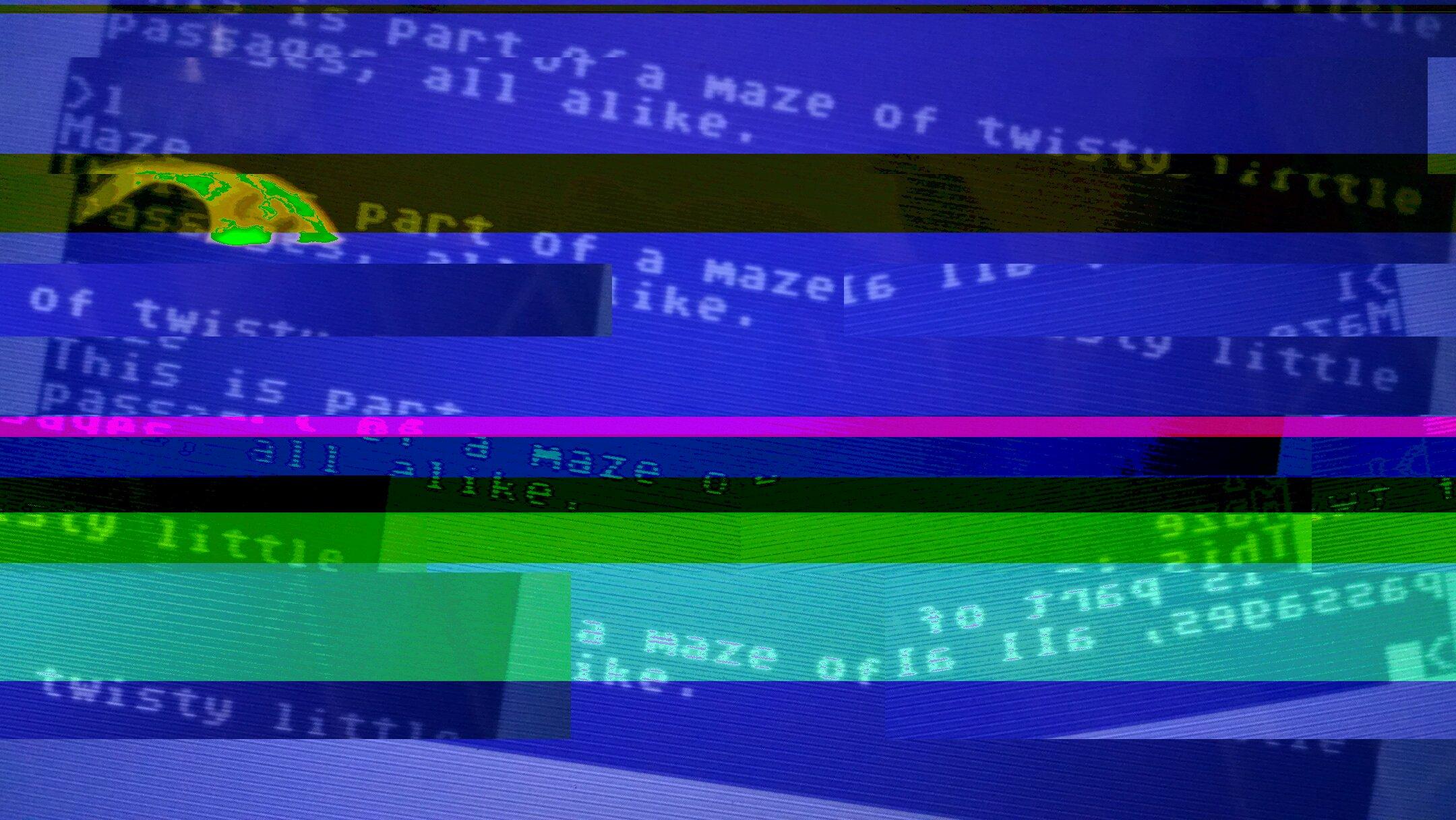 Glitched Commodore 64 Image