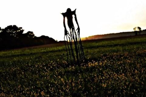 Creepy Slenderman in an Empty Field