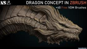 Artstation - Dragon Concept in Zbrush