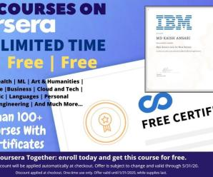 100+ Free Courses from Coursera