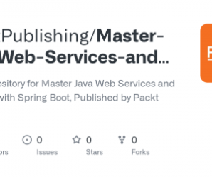 Packt – Master Java Web Services and REST API with Spring Boot