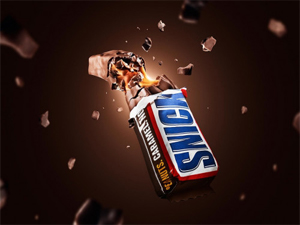 Hi-End Photography Retouching Workshop Snickers Explosion