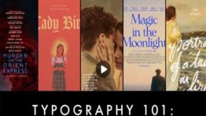 Typography 101- The Secret to Beautiful Movie Posters
