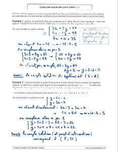 savoir comment resoudre systeme equations - des cas particuliers ( 1 )