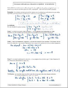 savoir comment resoudre systeme equations par substitution - la methode