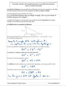 comment savoir calculer calcul hypotenuse triangle rectangle avec propriete de pythagore - methode et exemple