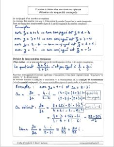 comment calculer calcul avec nombres exemples - diviser - quantite conjuguee