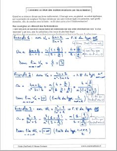 comment calculer une limite suite et lever une indetermination en factorisant factorisation