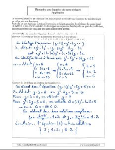 comment savoir resoudre une equation du second degre - discriminant negatif - exemples et applications