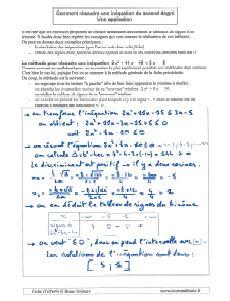 exemple application pour comment resoudre une inequation du second degre