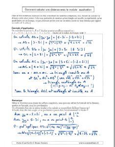 comment savoir calculer calcul module nombre complexe et distance - exemples