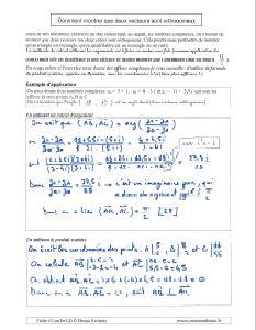 comment montrer que deux vecteurs sont orthogonaux angle droit perpendiculaires