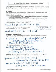 savoir remplacer x - comment calculer la valeur d une expression