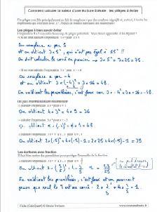 quelques pièges à éviter dans le calcul d'une expression littérale et algébrique