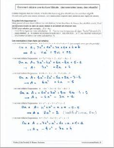 la réduction d'une expression : des exemples pour réduire une écriture littérale et algébrique