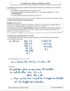 un exemple de probleme utilisant le PGCD