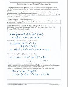 la reciproque de la propriete de pythagore - comment montrer qu un triangle n est pas rectangle - la contaposee
