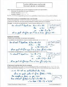 comment savoir trouver un antecedent pour une fonction donnée sous la forme d une formule