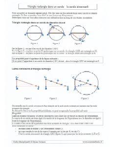 triangle rectangle inscrit dans un cercle de diametre donne - cercle circonscrit