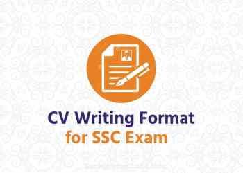 cv writing format for ssc exam