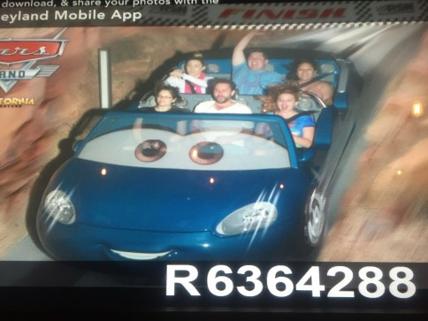 driving around in a giant slot-car on Radiator Springs