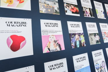 Media Wall with past COURTGIRL MAG Covers