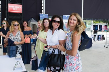 Guests arriving on the stage COURTGIRL Lifestyle Experience at the Mylan World TeamTennis Finals, Forest Hills Stadium