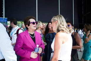 Billie Jean King with CG TEAM PG, Laura