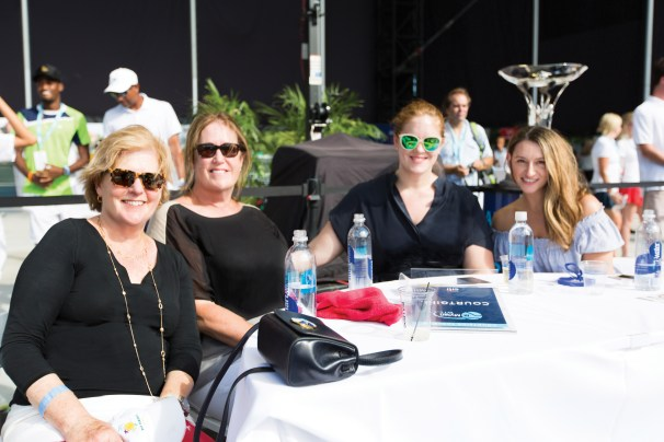 Lynn Voss and freinds enjoying the court side action at COURTGIRL Lifestyle Experience