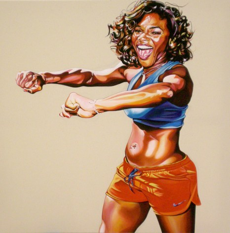 Serena Williams, 2009 40 x 40 inches acrylic on canvas. This painting was commissioned by Nike for the Delicious campaign.