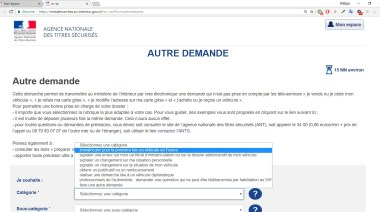 Immatriculation première Immatriculation sur le site ANTS